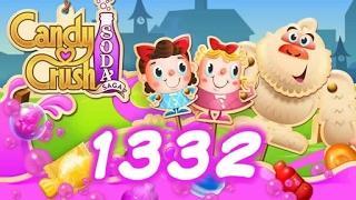 Candy Crush Soda Saga Level 1332 - 1 Booster Used