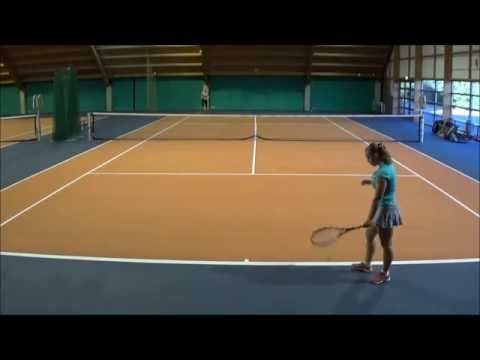 Michelle Verhoeven - Warm-up and Setplay - Women's Tennis - Fall 2016 - Slamstox Scholarships