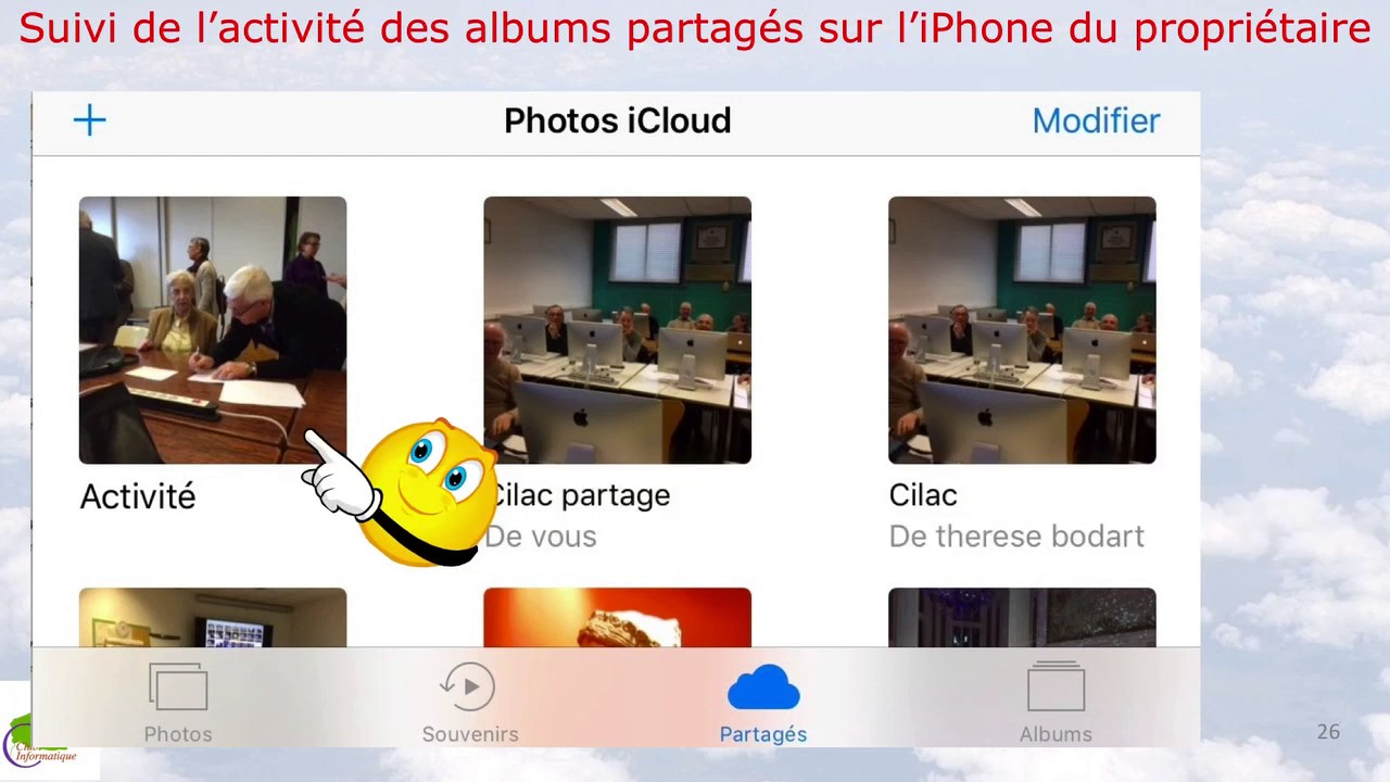iphone partage de photos avec icloud sur un iphone youtube. Black Bedroom Furniture Sets. Home Design Ideas