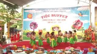 Tiệc buffet của các con mầm non Võng La