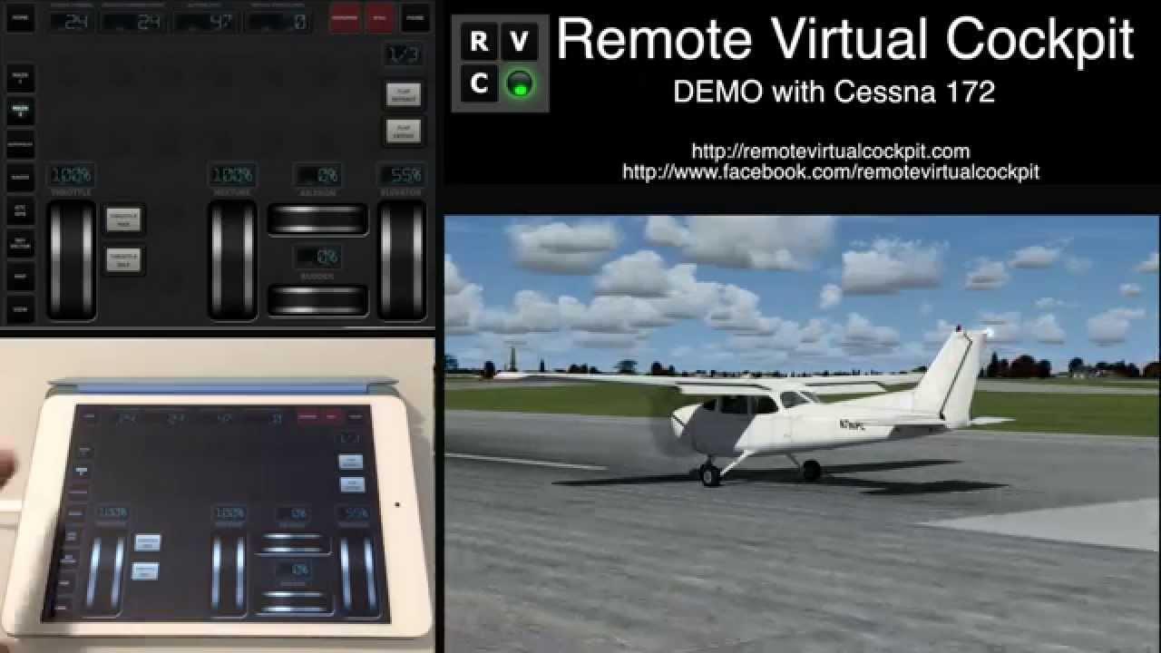 remote virtual cockpit demo with cessna 172 on prepar3d. Black Bedroom Furniture Sets. Home Design Ideas