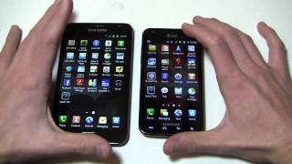 Samsung Galaxy Note vs. Samsung Galaxy S II Skyrocket Dogfight Part 1