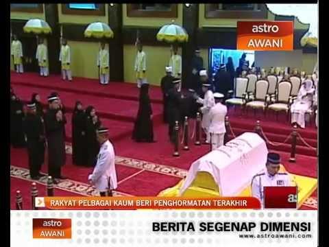 Penghormatan terakhir kepada Almarhum Sultan Azlan Shah