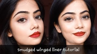 My First Video|| Smudged Winged Liner || Affordable Products