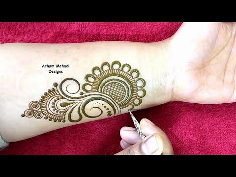 Beautiful Arabic Mehndi Design for Hands    Arham Mehndi Designs thumbnail