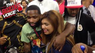 ADRIEN BRONER Gets Bombarded by Fans After ERROL SPENCE'S Knockout