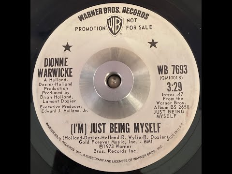 Dionne Warwick   I'm Just Being Myself