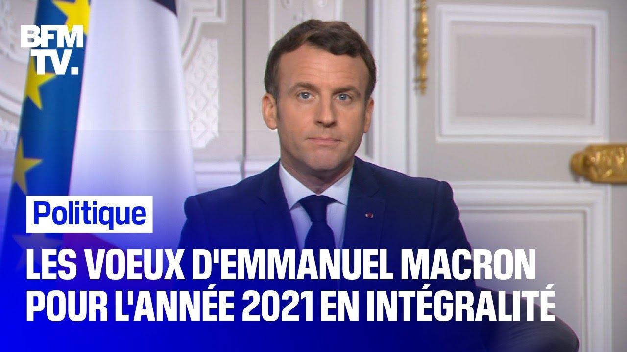 Les vœux d'Emmanuel Macron pour l'année 2021 en intégralité