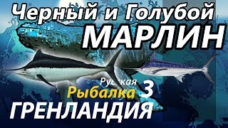 Черный и Голубой Марлин / РР3 [Русская Рыбалка 3 Гренландия]