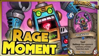 RAGE MOMENT! | Hearthstone Rise of Shadows moments