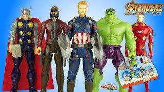 Oeufs Kinder Surprise Justice League Super Heros Avengers Infinity War Jouets Enfants Youtube Kids