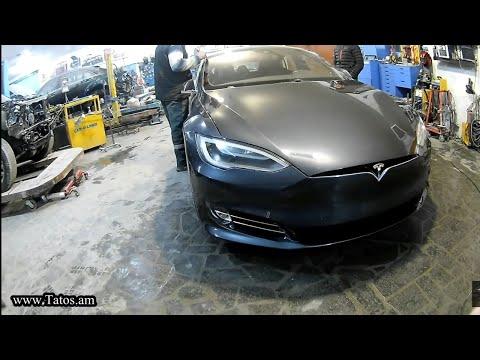 Tesla Model S кузовной ремонт в Армении/Body Repair In Armenia