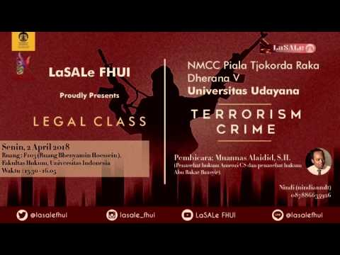 Event review Legal Class Terrorism Crime