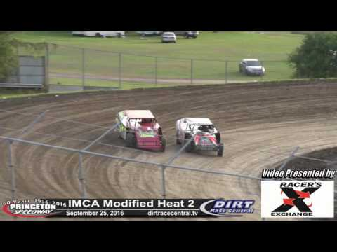 Princeton Speedway 9/25/16 IMCA Modified heat 2