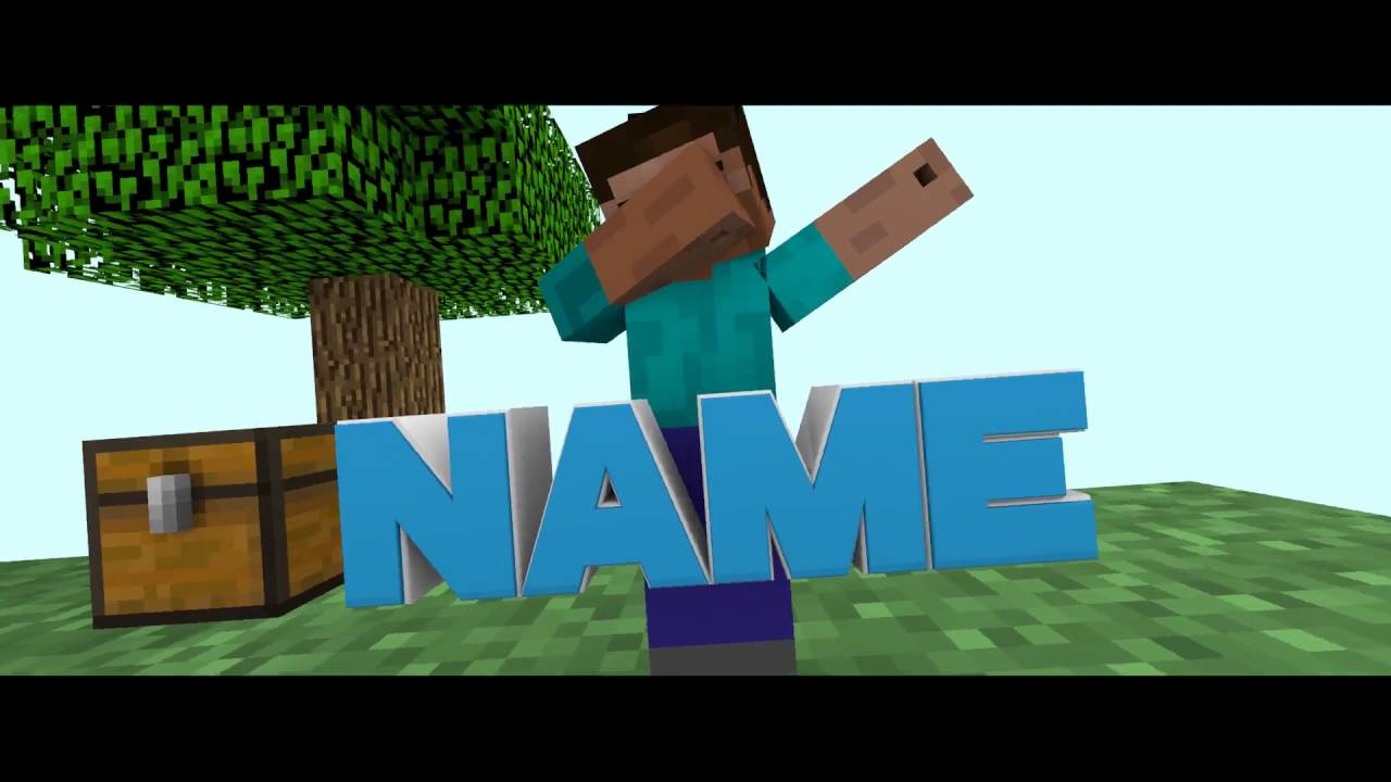-minecraft intro template  1  blender   10likes for the dab