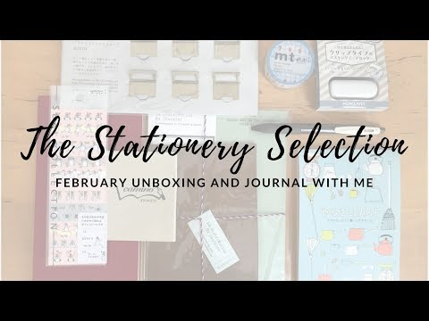 The Stationery Selection February 2018 Unboxing and Play