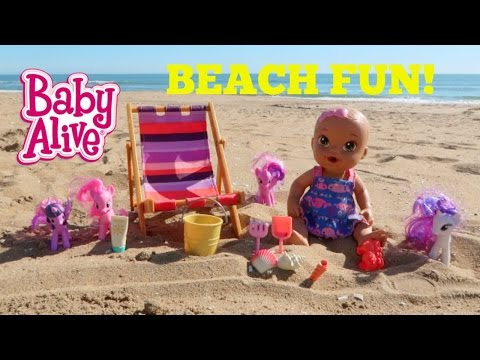 Thumbnail: Baby Alive Plays on the Beach!