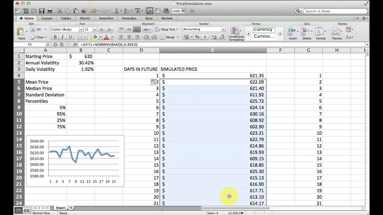 Vba Stock Simulation How To Simulate Stock Price Changes With Excel Monte Carlo