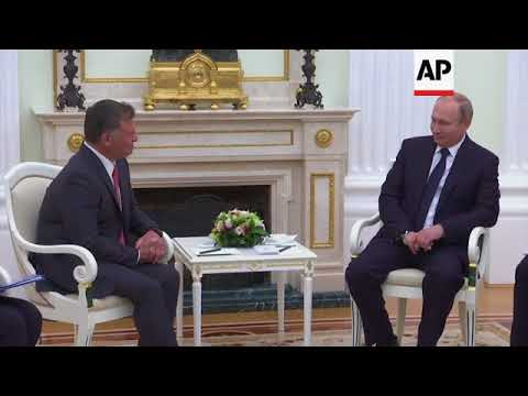 Putin meets Jordan's King Abdullah II