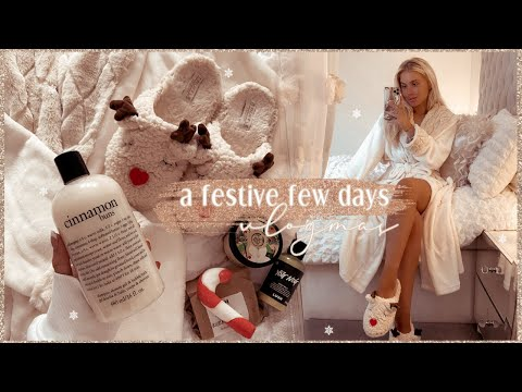 A FEW FESTIVE DAYS | a frosty morning pamper, picking the christmas tree + home updates  ✨