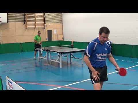 Oberliga Bayern Tischtennis Kostadinov TSV Windsbach Reitmeier  TV Hilpoltstein II   20170930 Stativ