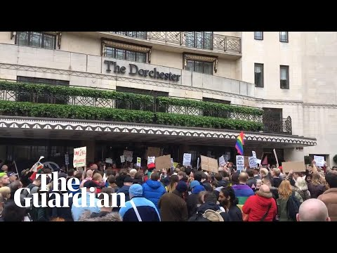 Protesters descend on Dorchester Hotel against Brunei anti-LGBT laws