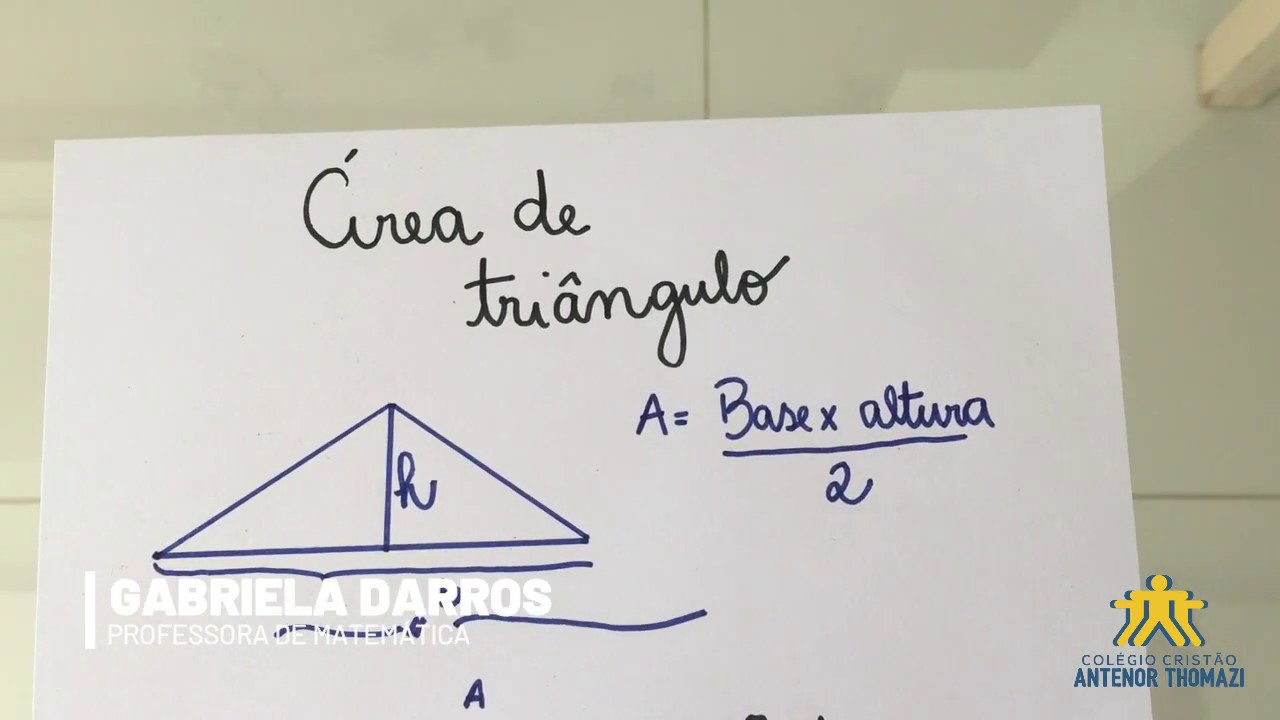 13/04 - MATEMÁTICA: Área do triângulo