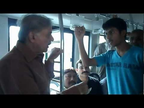 CM Shahbaz Sharif Travelling to Camp Office on LTS AC Bus