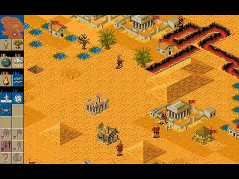 Playing Populous 2 / Battle at Veerag vs Computer / OldPcGame