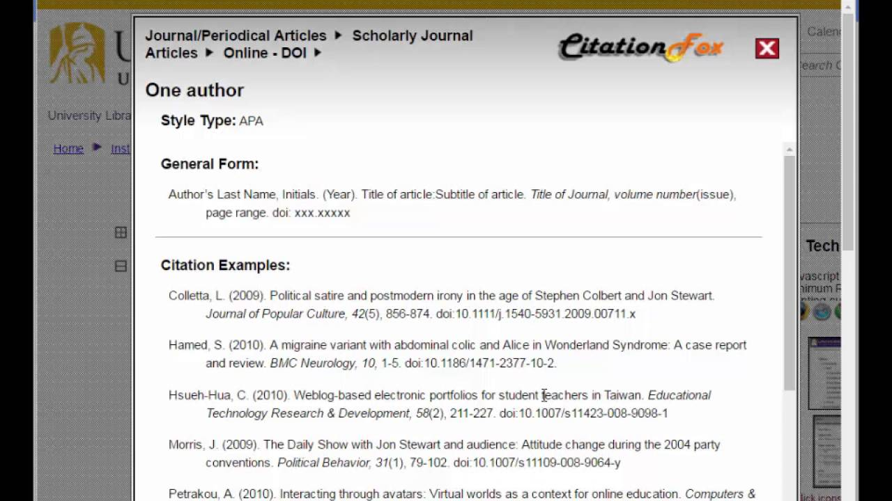 Citing Your Work Master Of Business Administration Libguides