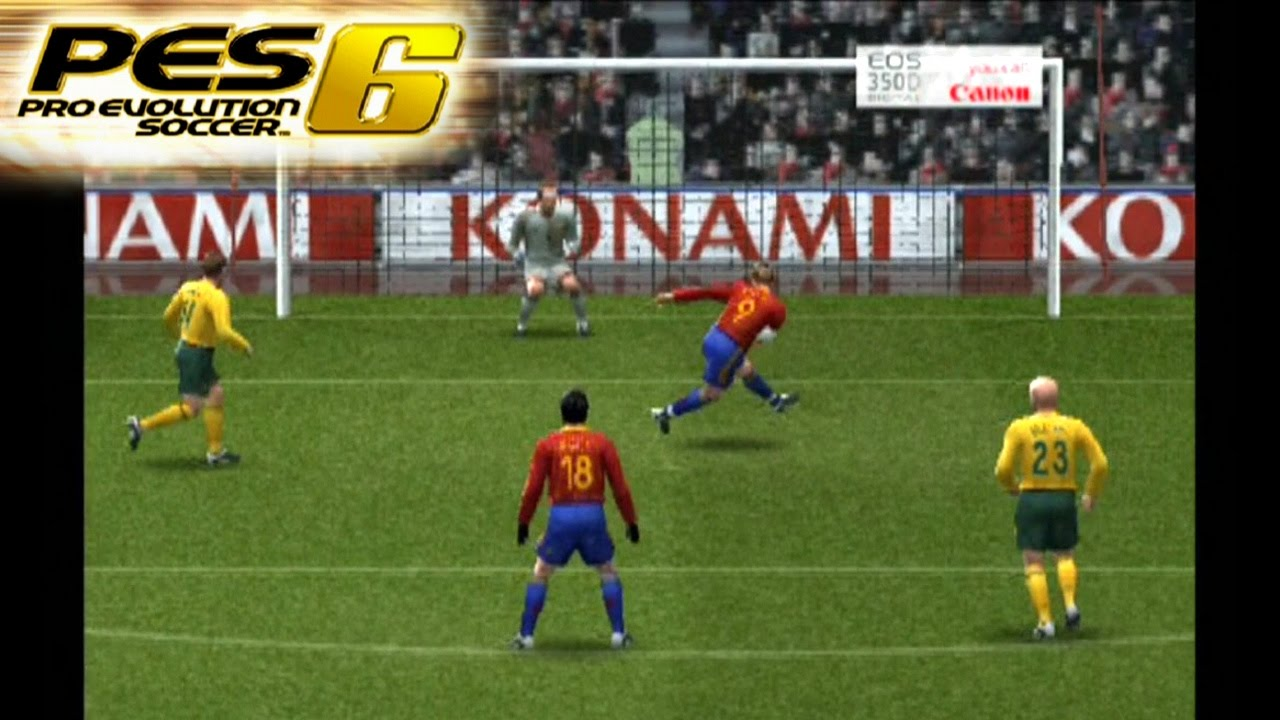 Pro Evolution Soccer 6 Ps2 Gameplay Youtube