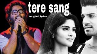 Tere Sang lyrical Video | Satellite Shankar |Sooraj, Megha |Mithoon Featuring Arijit Singh Aakanksha