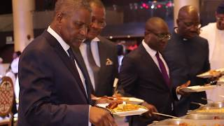 ALIKO DANGOTE AND THABO MBEKI LUNCHES THE AFROCHAMPIONS CLUB, DANGOTE