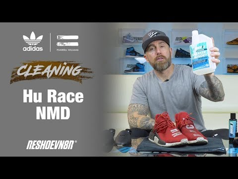 The Best Way to Clean Red Adidas Human Race NMDs with Reshoevn8r
