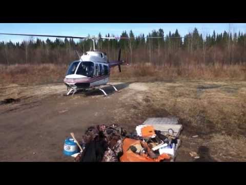 Bell 206 Long Ranger takeoff - Expedition Helicopters