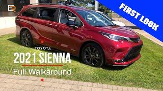 2021 Toyota Sienna  Full Walkaround - Hybrid, AWD, Fridge and a Vacuum?