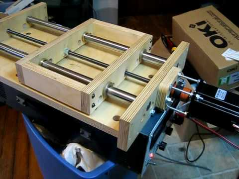 Test Of The X Axis Of My Diy Cnc Pcb Mill At 50 Ipm Youtube