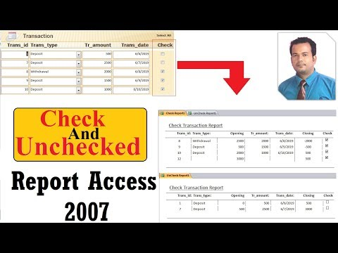 Check UnChecked Report In Access