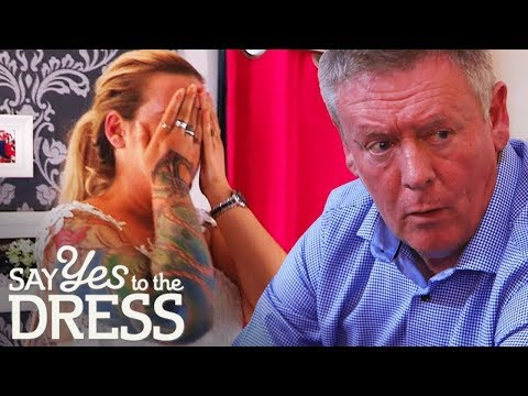 🔴DRAMA! Bride's Father Doesn't Know She has Tattoos | Say Yes To The Dress UK