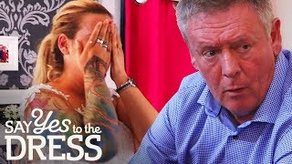 🔴DRAMA! Bride's Father Doesn't Know She has Tattoos   Say Yes To The Dress UK