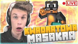 [ LIVE ] - KWADRATOWA MASAKRA | NAJGORSZA ŚMIERĆ w  Minecraft 1.11