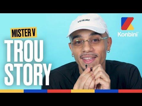 Youtube: Ce GROS MYTHO de Mister V vous raconte sa vie dans son Trou Story | Konbini