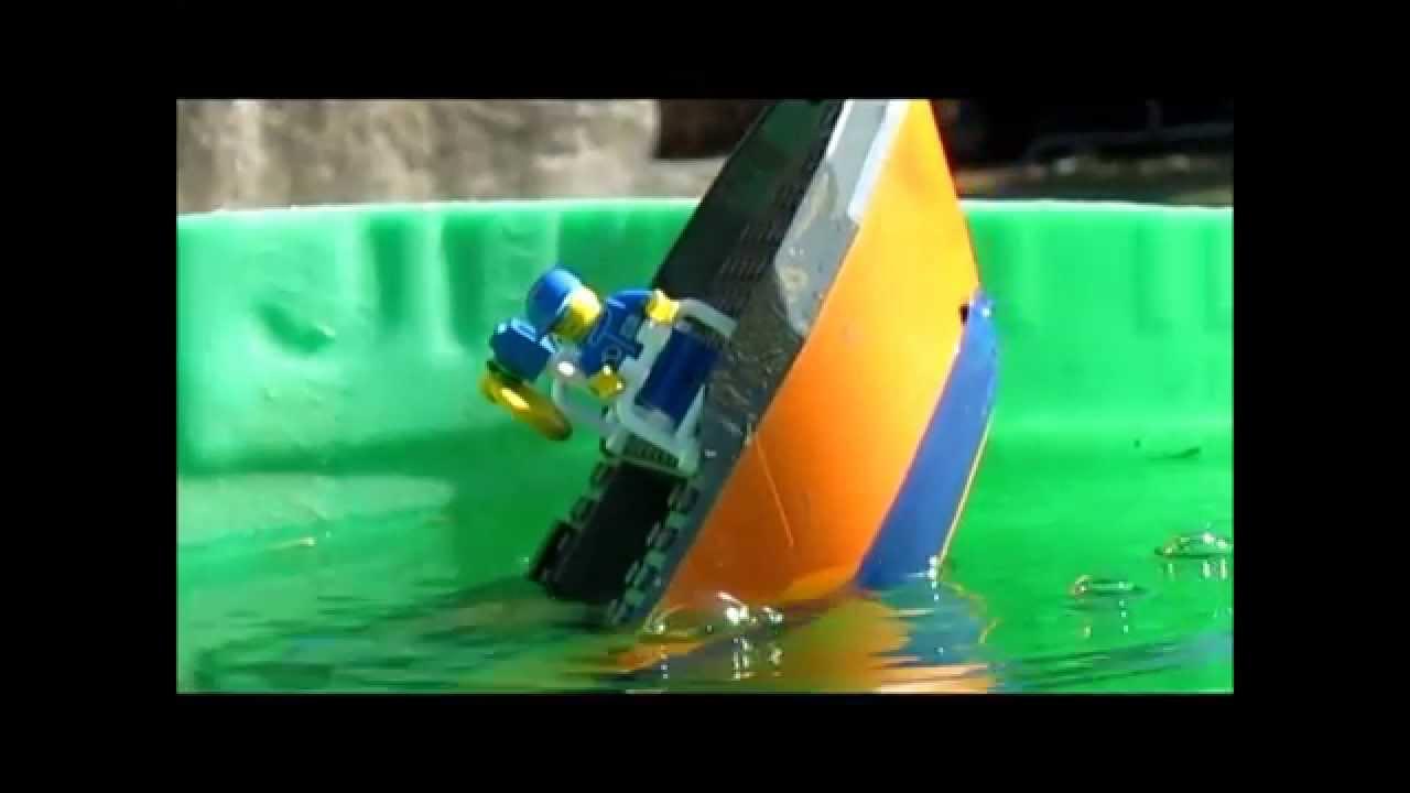 Lego Cargo ship sinking 3 - YouTube