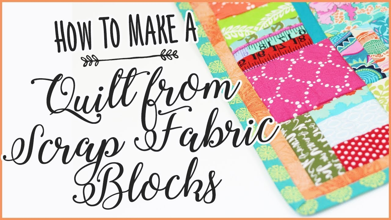 How To Make A Quilt From S Fabric Blocks Easy Sewing