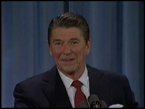 President Reagan's 14th Press Conference in the East Room on November 11, 1982