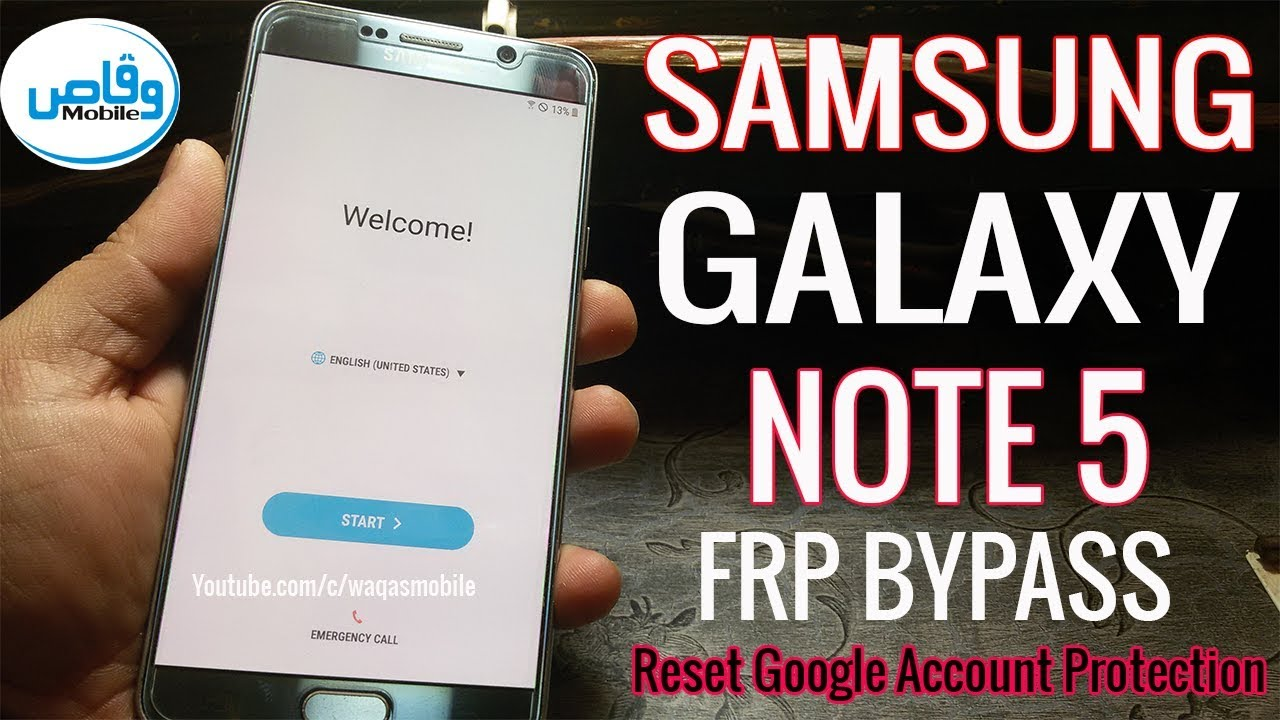 Samsung Galaxy Note 5 Frp bypass Reset Google Account Protection by waqas  mobile