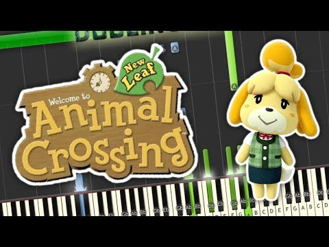 Animal Crossing New Leaf - Main Theme Piano Tutorial Synthesia