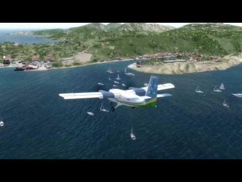 Landing to St. Barts Gustav III in P3D v4