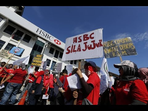 NUBE protests against human rights violations by HSBC [NSTTV