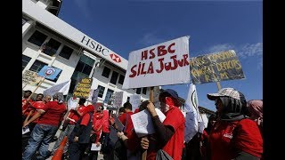NUBE protests against human rights violations by HSBC